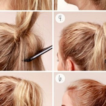 Three Tiered Ponytail Tutorial (2)