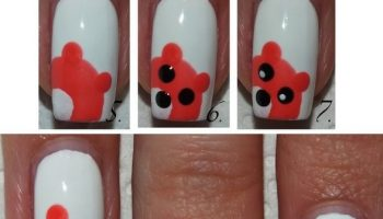 Bear Nail Art Design Tutorial (2)