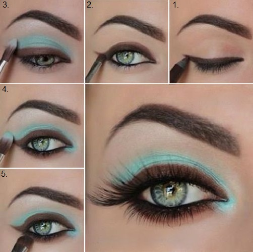 beautiful blue and brown makeup tutorial   alldaychic