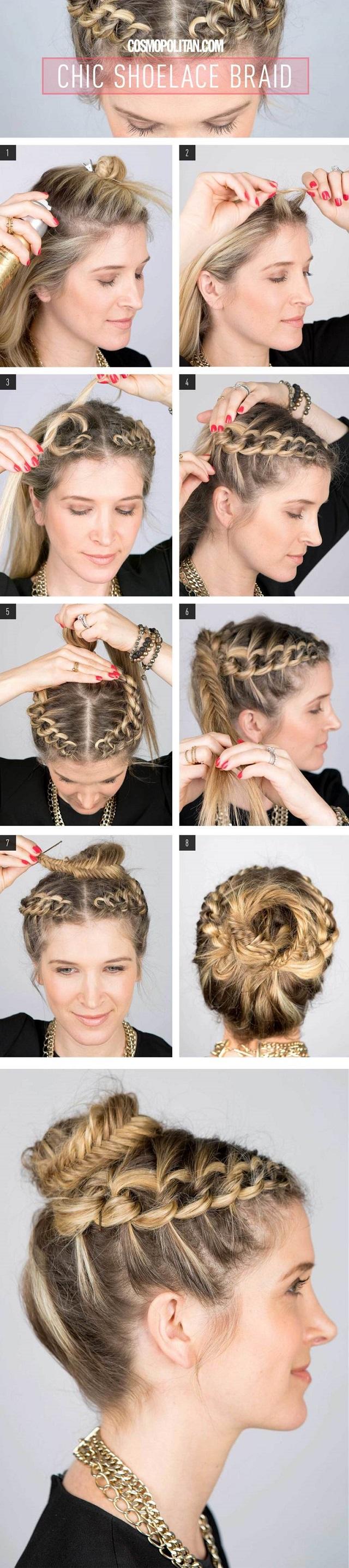 Cute Shoelace Braid - DIY Hairstyle