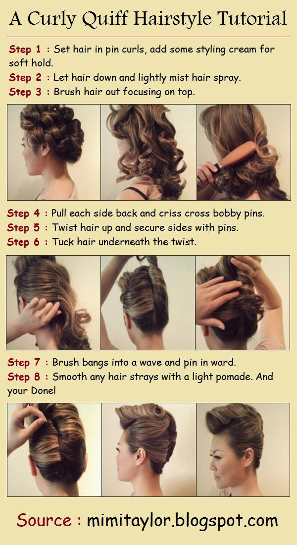 DIY Stylish Curly Quiff Hairstyle