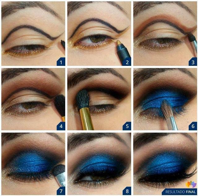 Deep Blue Makeup Tutorial - Alldaychic-9475