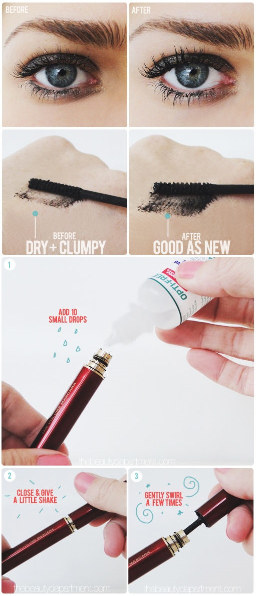 Great Ways To Make Your Mascara Last Longer