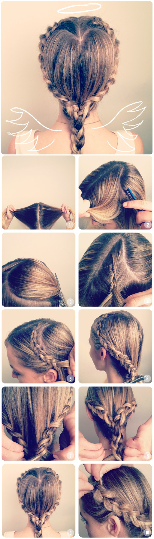 Heart Shaped Princess Braiding - Hairstyle Tutorial