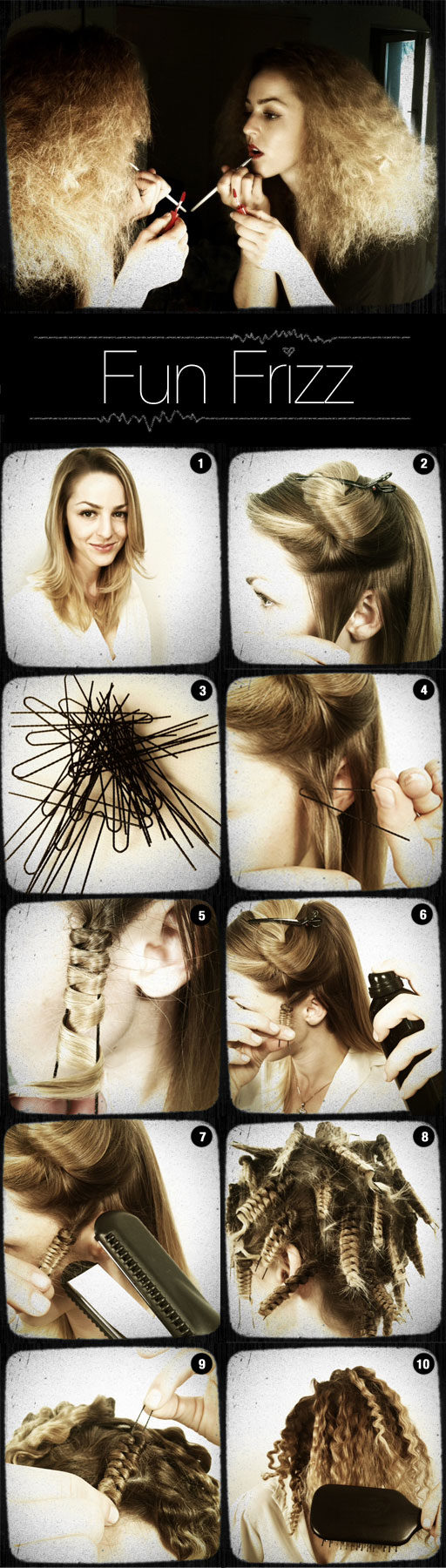 How To Make Fun Frizz Hair