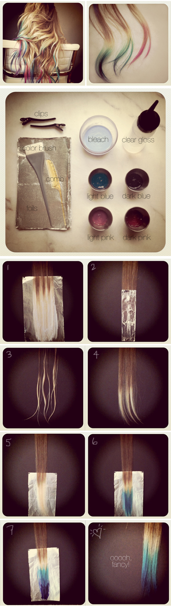 How To Make Ombre Hair At Home