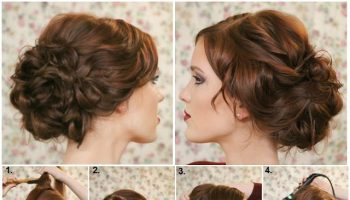 Enjoyable Elegant And Easy Updo Hairstyle Tutorial Alldaychic Hairstyles For Women Draintrainus