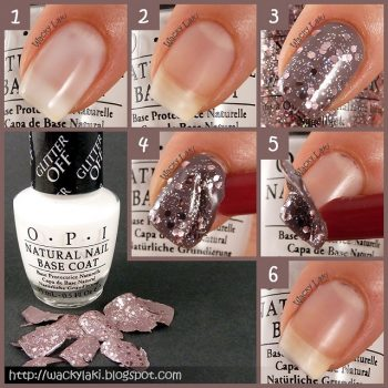 How To Peel Off Glitter Polish Starting From Base Coat (2)