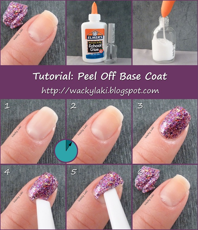 How To Peel Off Glitter Polish Starting From Base Coat