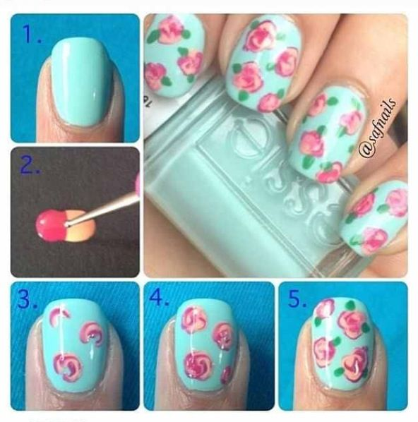 How To Make Roses On Nails
