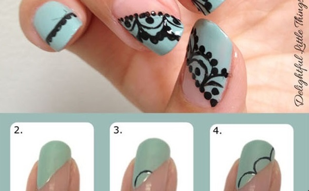 Nail Design Idea Inspired By Lace Alldaychic