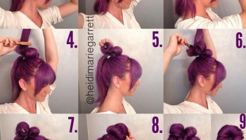 Natural Big Bun – DIY Hairstyle (2)