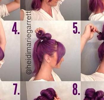 Natural Big Bun – DIY Hairstyle (2)