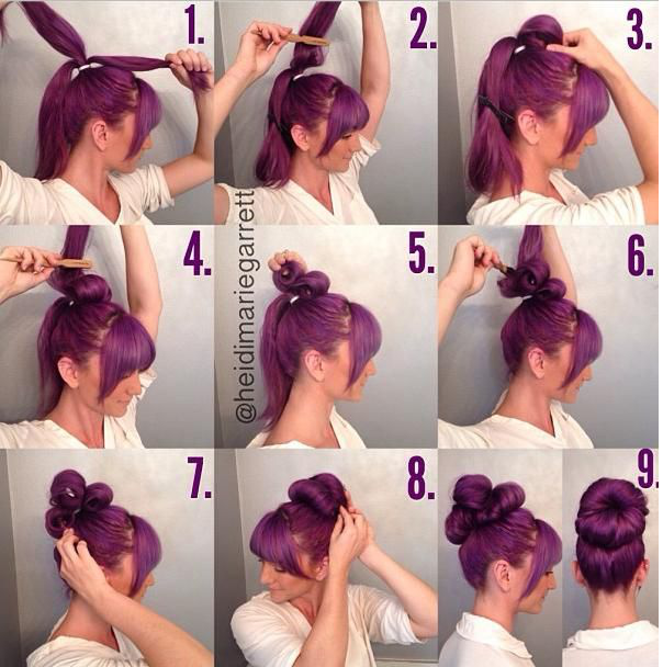 Natural Big Bun - DIY Hairstyle