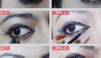 Vintage Style Triple Winged Eyeliner Tutorial (2)