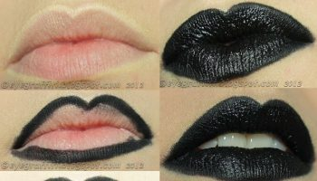 How To Make Perfect Black Lips – DIY