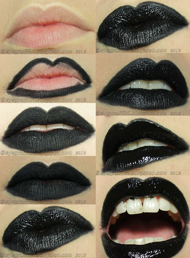 How To Make Perfect Black Lips - DIY