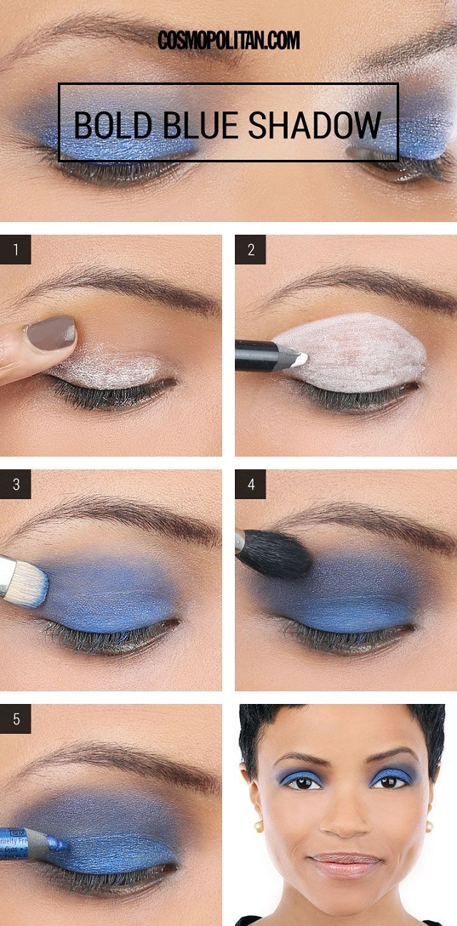 blue smokey eyes - diy makeup tutorial - alldaychic