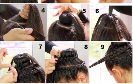Enjoyable Braided Donut Bun Tutorial Braids Short Hairstyles For Black Women Fulllsitofus