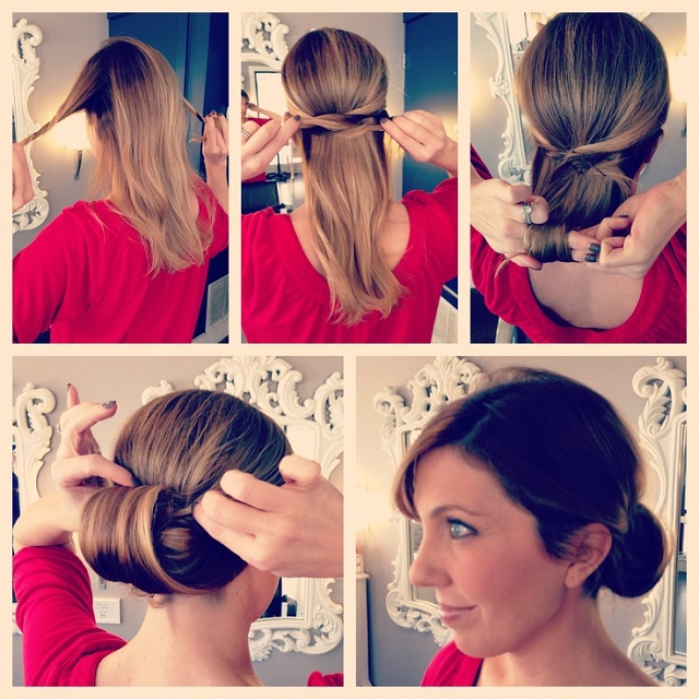 Easy Step By Step Updo - DIY Hairstyle - AllDayChic