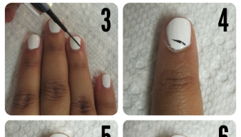 Easy Zebra Striped Manicure – DIY (2)