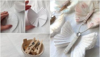How To Make Cute Butterflies Out Of Cupcake Liners – DIY