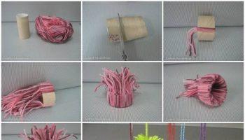 How To Make Cute Winter Yarn Ornaments – DIY