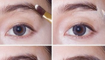 How To Make New And Trendy Straight-Across Brows (2)