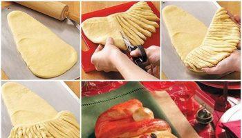 How To Make Santa Looking Bread