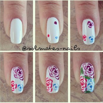 Rose Nail Design – DIY Tutorial