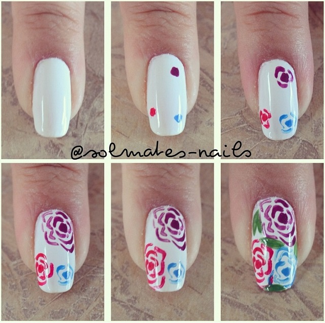 Rose Nail Design - DIY Tutorial - Rose Nail Design - DIY Tutorial - AllDayChic