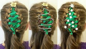 Corset-Ribbon-Braided-Christmas-Tree-Hairstyle-Tutorial