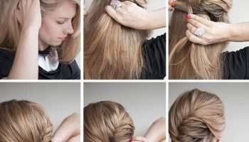 Cute Braided Hairstyle With Side Bun