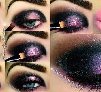 Dark And Intense Pink Makeup Tutorial (3)