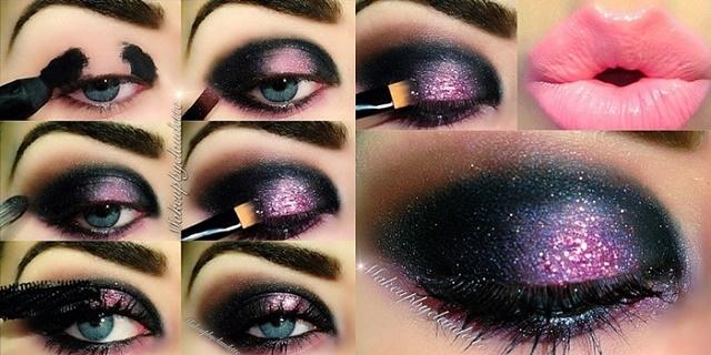 Dark And Intense Pink Makeup Tutorial Alldaychic