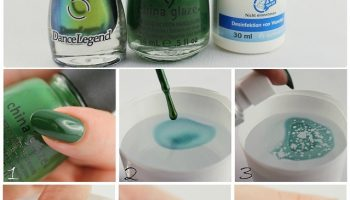Green Splash Nail Art – DIY Tutorial – turtle nails