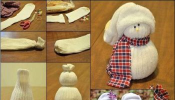How To Make A Sock Snowman – DIY