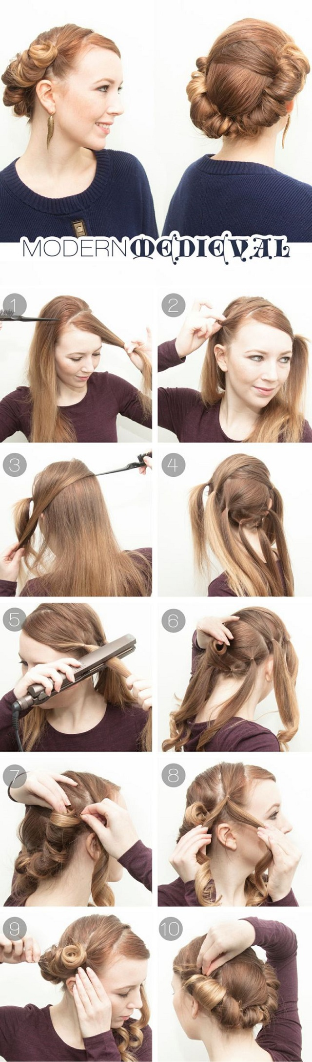 How to do hairstyles step by step for short hair