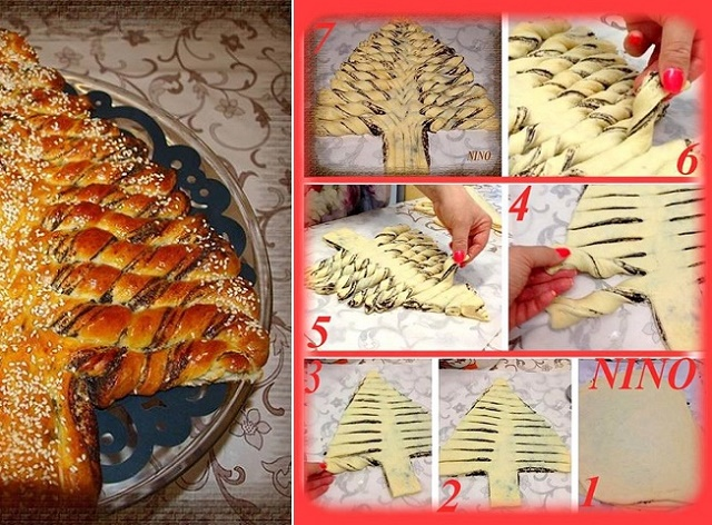 Nutella Christmas Tree.Braided Nutella Christmas Tree Bread Diy Recipe Alldaychic