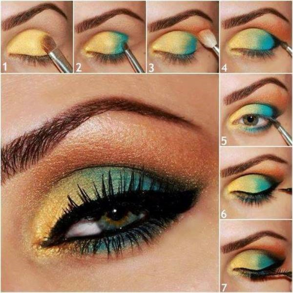 Makeup Tutorial Using Vibrant Colors Alldaychic
