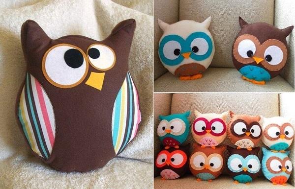 Make An Owl Pillow - DIY Project - AllDayChic