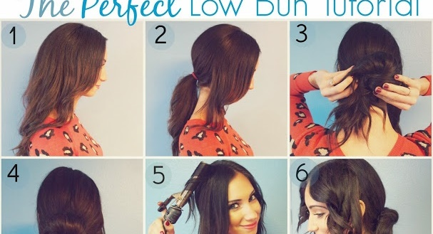 Romantic low bun hairstyle tutorial alldaychic.