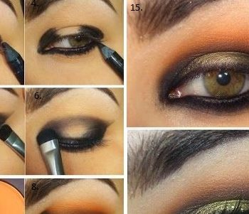 Black And Orange Dazzling Makeup Tutorial