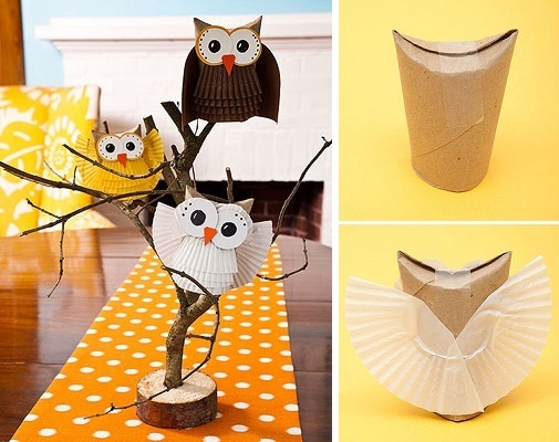 how to make an adorable paper owl - diy tutorial