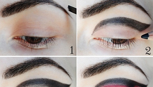 Black And Red Unusual Makeup Tutorial Alldaychic