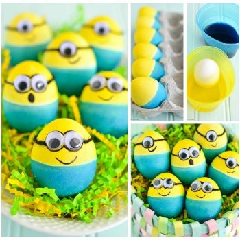 Dyed Minion Easter Eggs – DIY