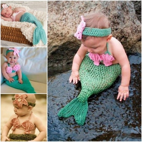 How To Crochet Videos Free : How To Crochet A Mermaid Blanket - AllDayChic