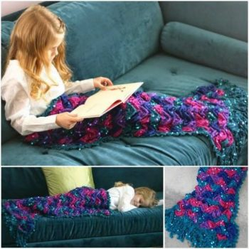 How To Crochet A Mermaid Blanket