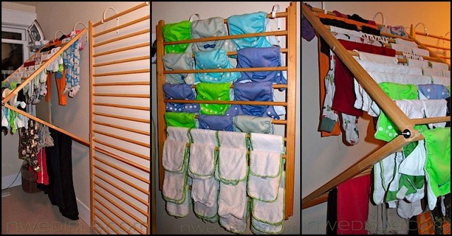 Wall Mounted Clothes Drying Rack Diy Project Alldaychic