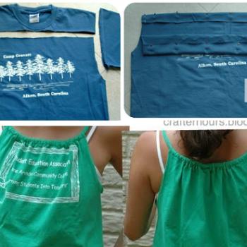 Refashion Old T-shirt To Tank Top – DIY